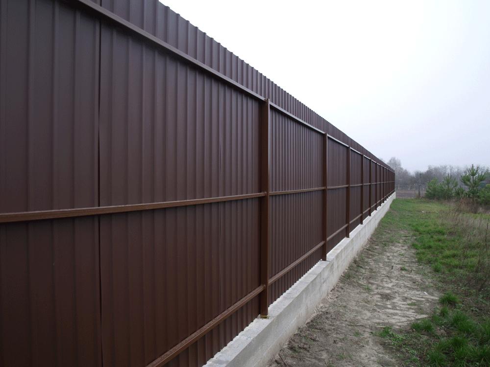 забор на ленточном фундаменте