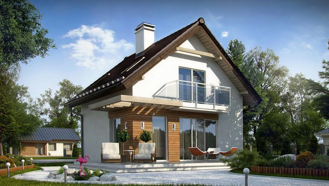 Дом из пеноблока 7х7 с мансардой 98м2