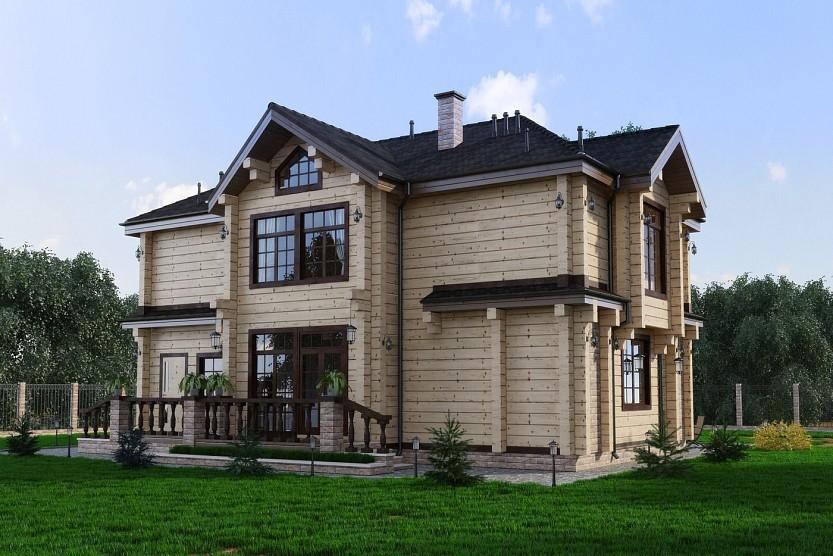 """Дом из профилированного бруса 271 м2 """"Рубин"""""""