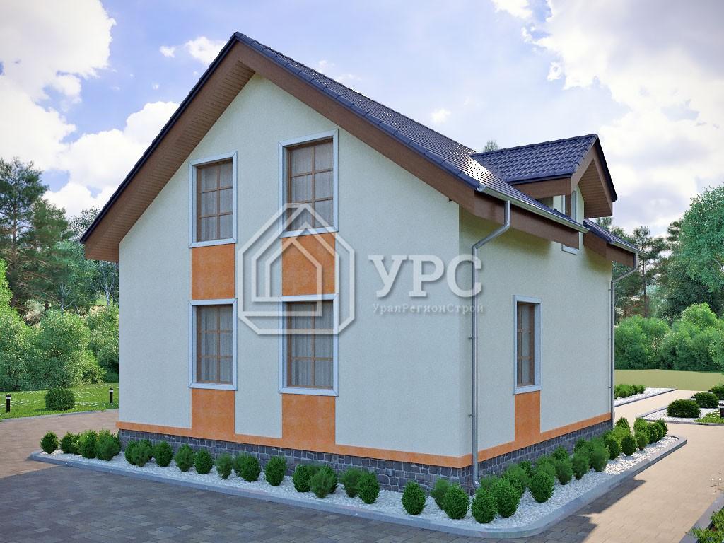 Дом из керамзитобетона К-025 два этажа 109 м2