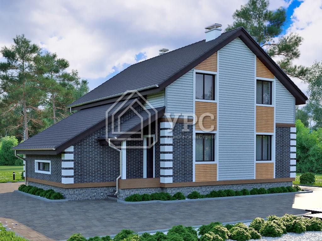 Дом из керамзитобетона К-126 два этажа 160 м2