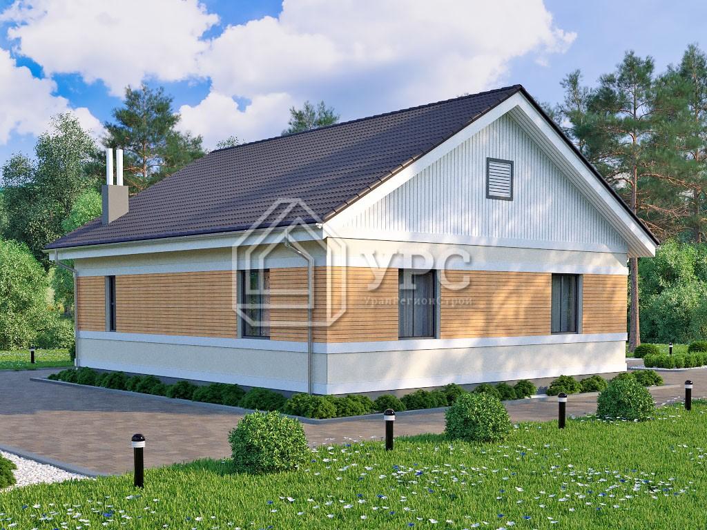 Дом из газоблока К-111 один этаж 91 м2