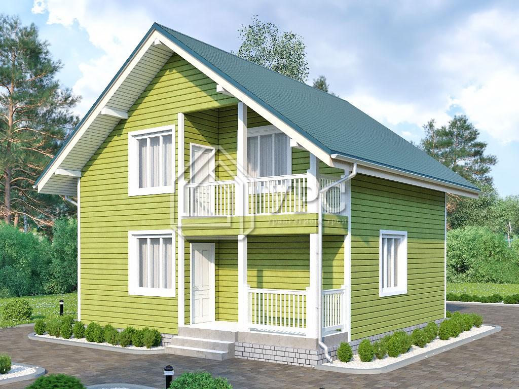 Каркасный дом И-083 два этажа 106м2
