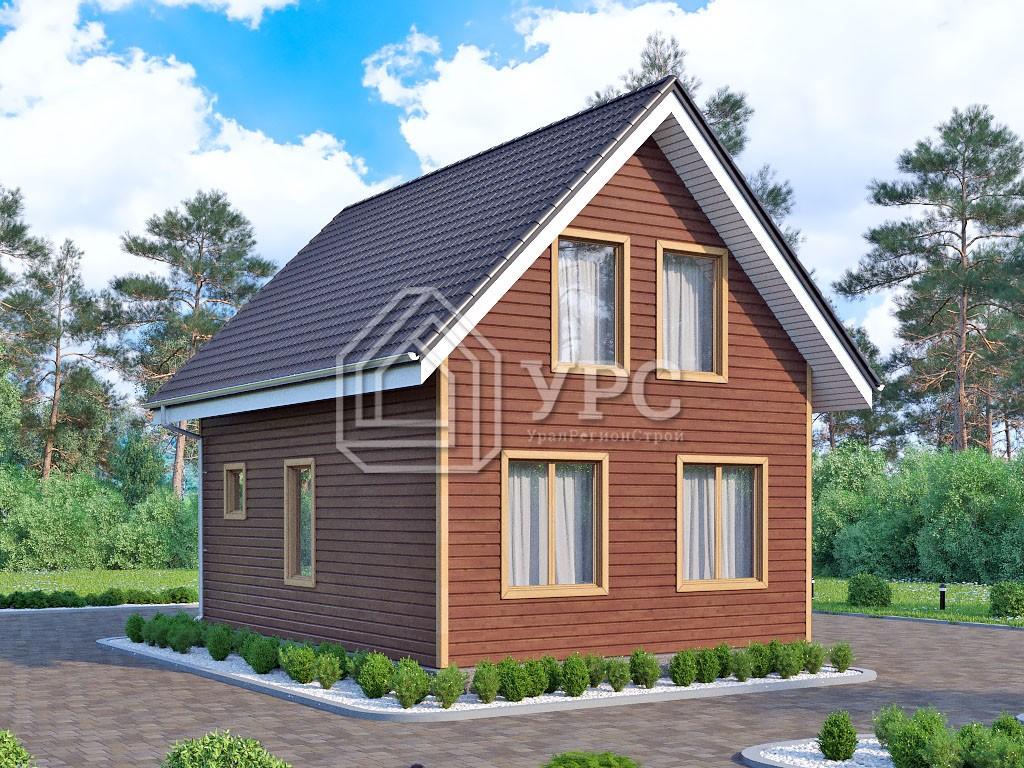 Каркасный дом И-079 два этажа 79м2