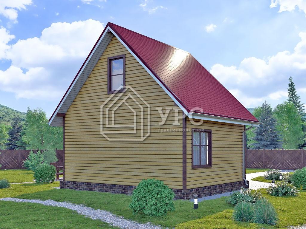 Каркасный дом И-080 два этажа 72м2