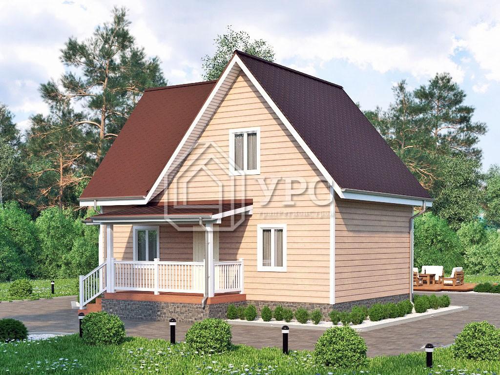 Каркасный дом И-078 два этажа 107м2