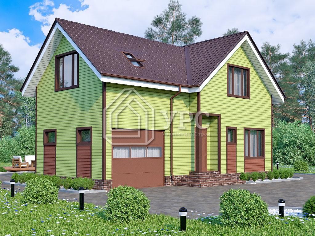 Каркасный дом И-001 два этажа 132 м2