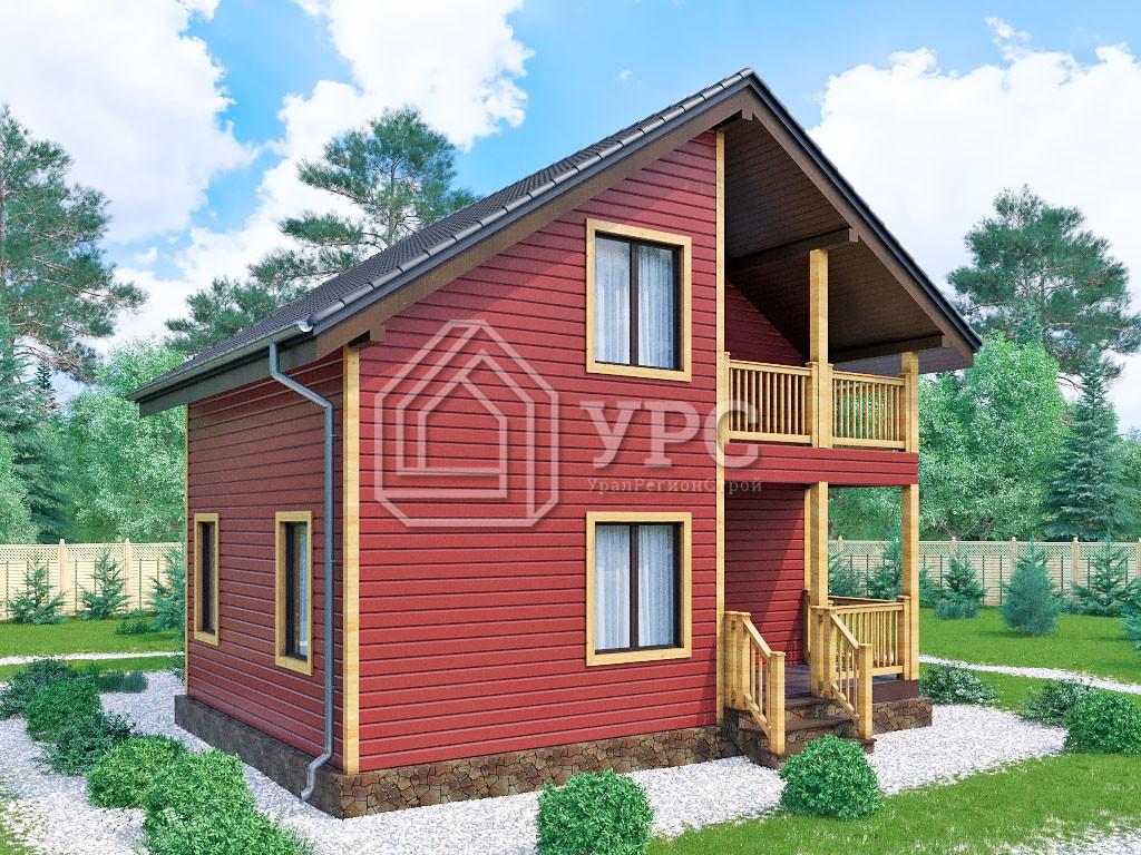 Каркасный дом И-082 два этажа 95 м2