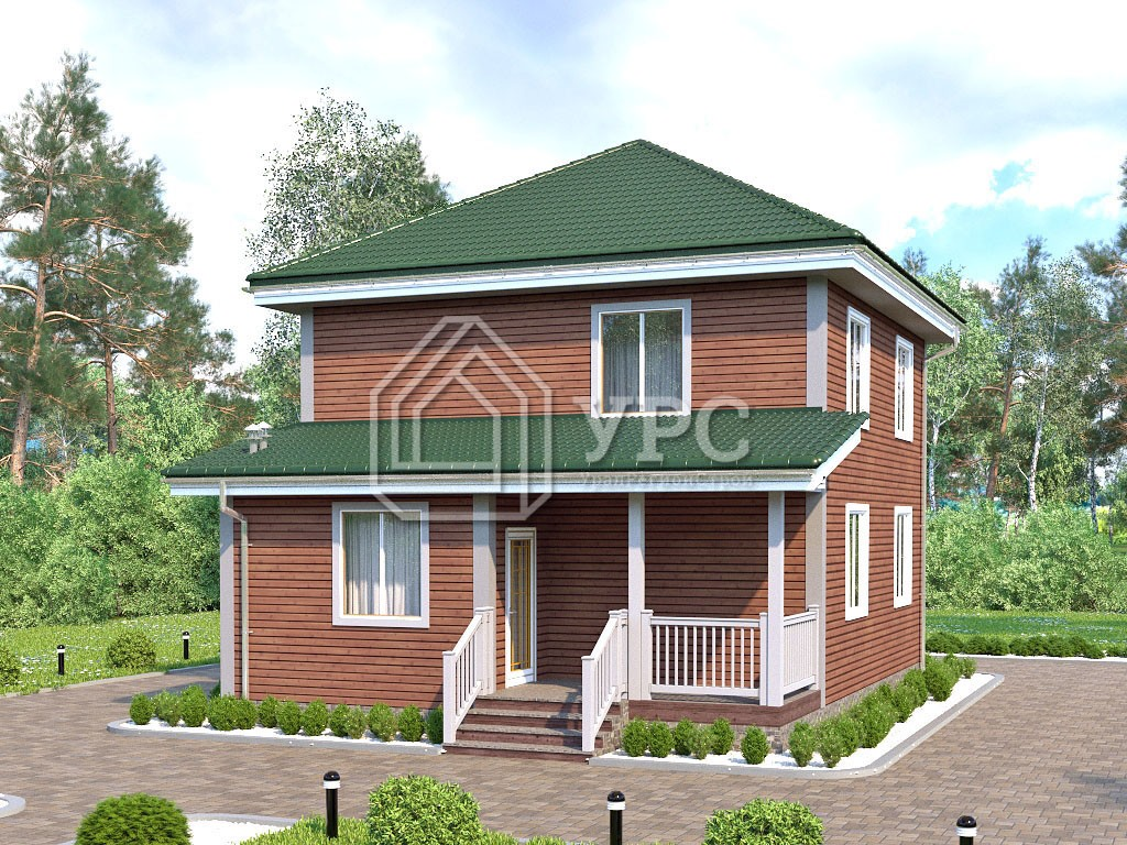 Каркасный дом И-076 два этажа 120 м2