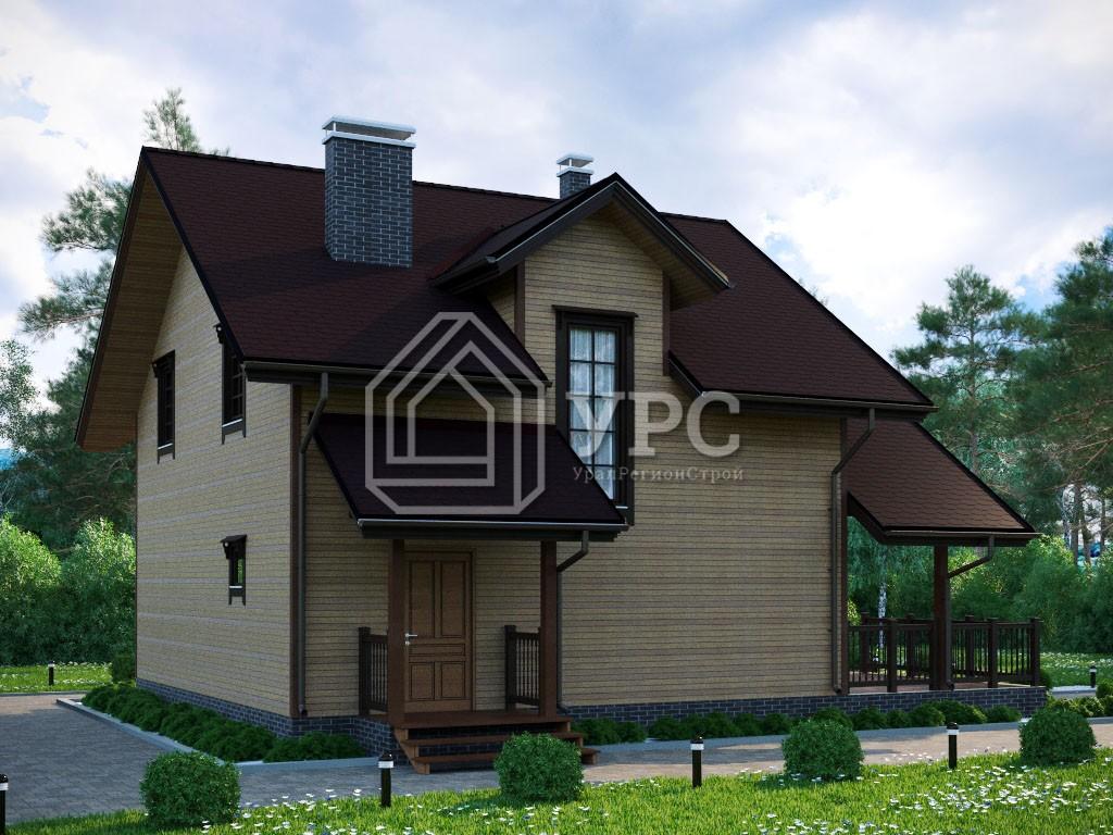 Каркасный дом И-074 два этажа 177 м2