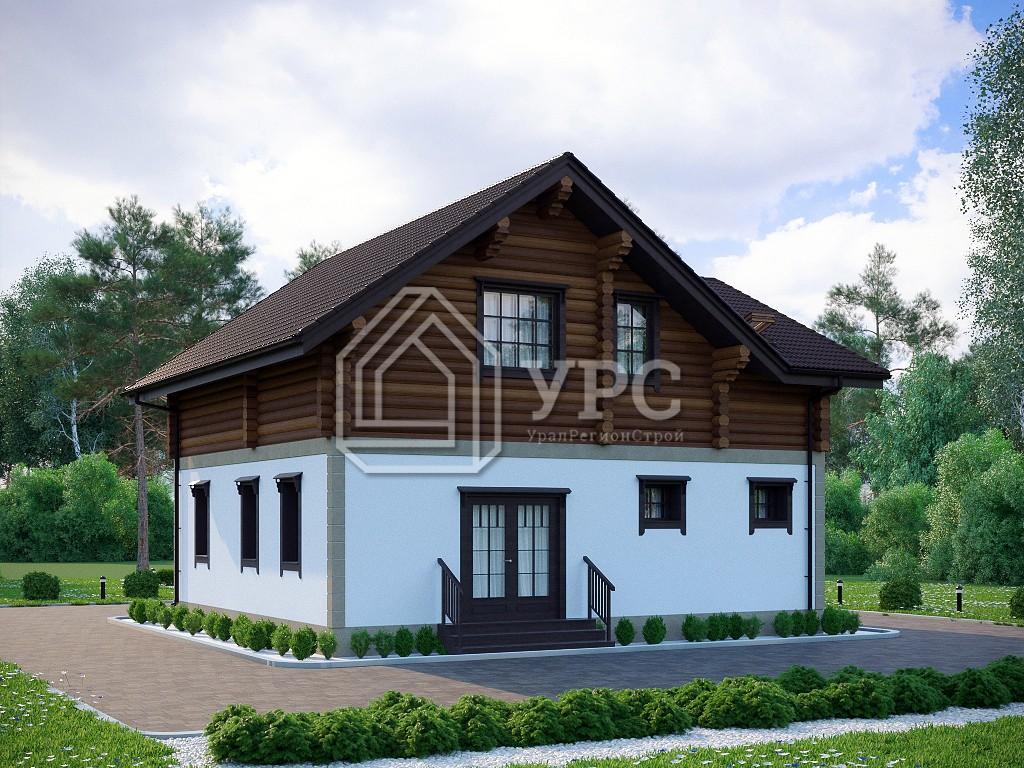 Дом из керамзитобетона А-022 два этажа 142 м2