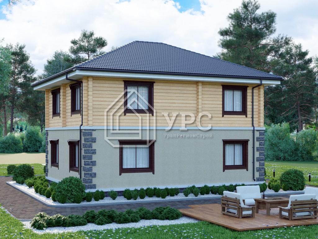 Дом из керамзитобетона А-035 два этажа 167 м2