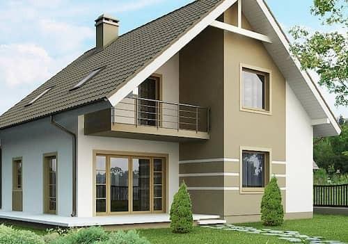 Каркасный дом 6х7 с мансардой 84м2