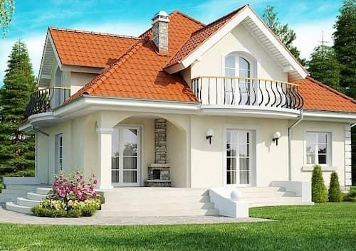 Каркасный дом 6х9 с мансардой 100м2