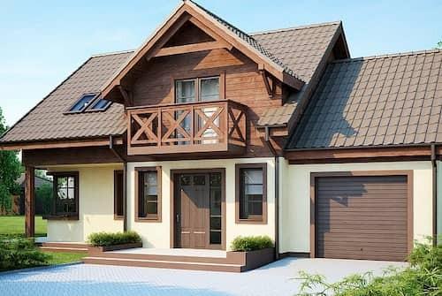 Каркасный дом 7х8 с мансардой 112м2