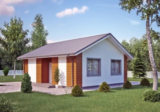 Каркасный дом 6х8 с мансардой 96м2