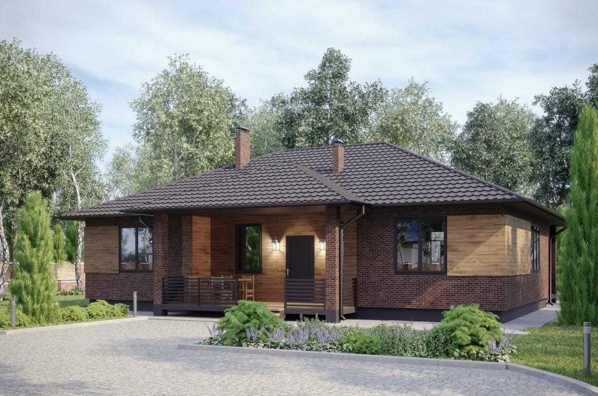Дом из керамзитобетона Вереск