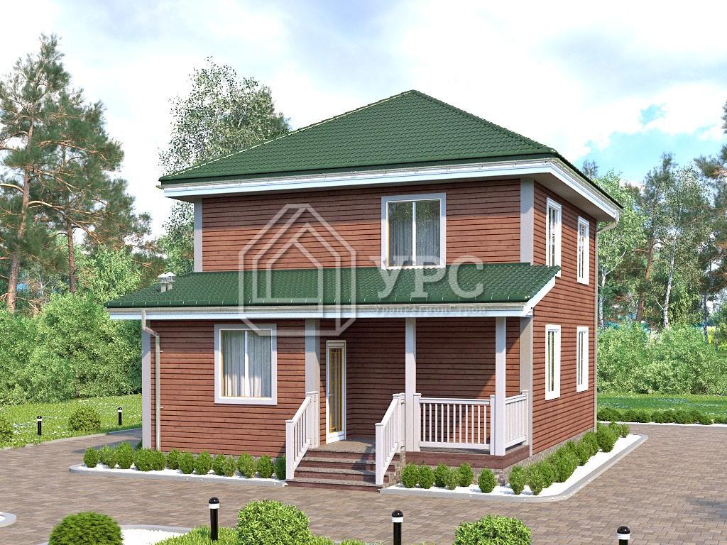 Дом из клееного бруса И-076