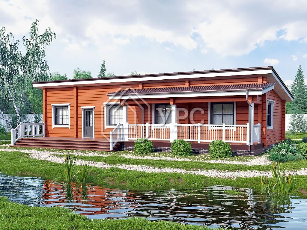 Дом из профилированного бруса ДС-145
