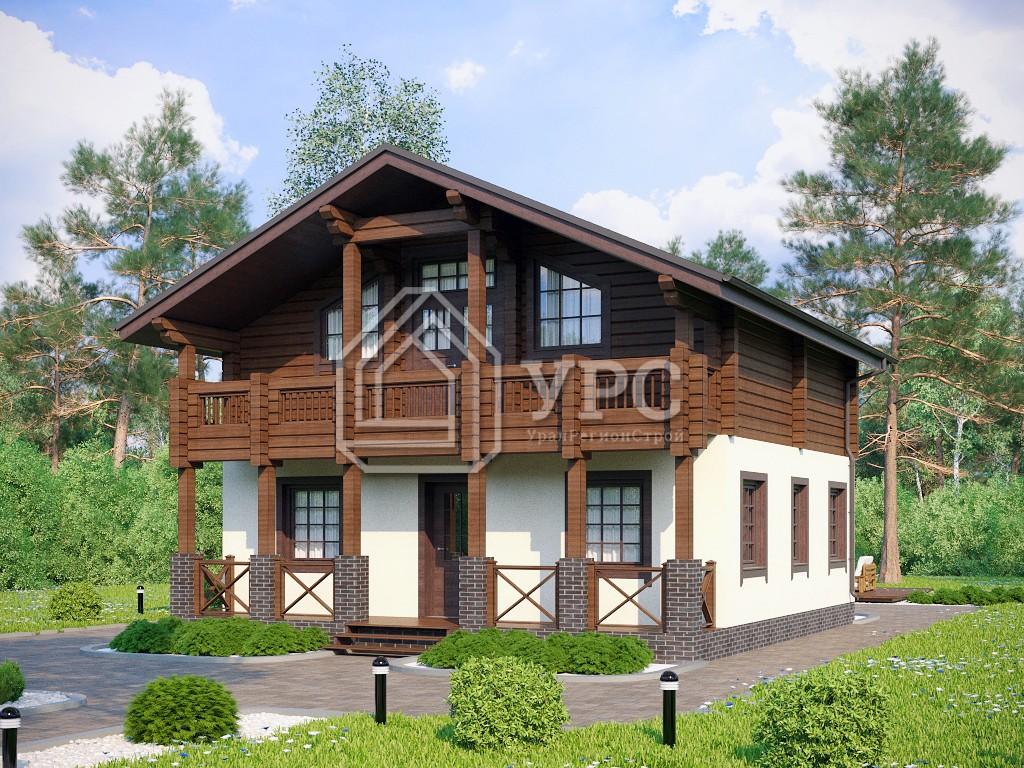 Комбинированный дом А-028