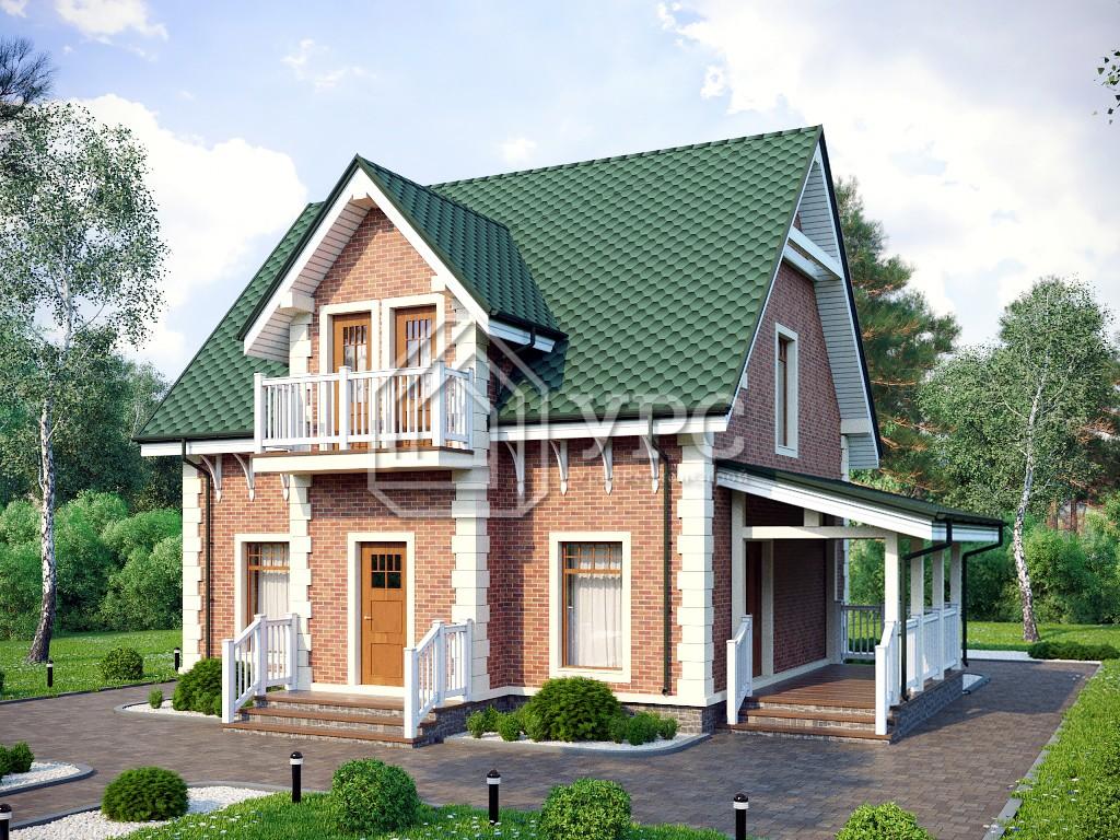 Дом из керамзитобетона К-223
