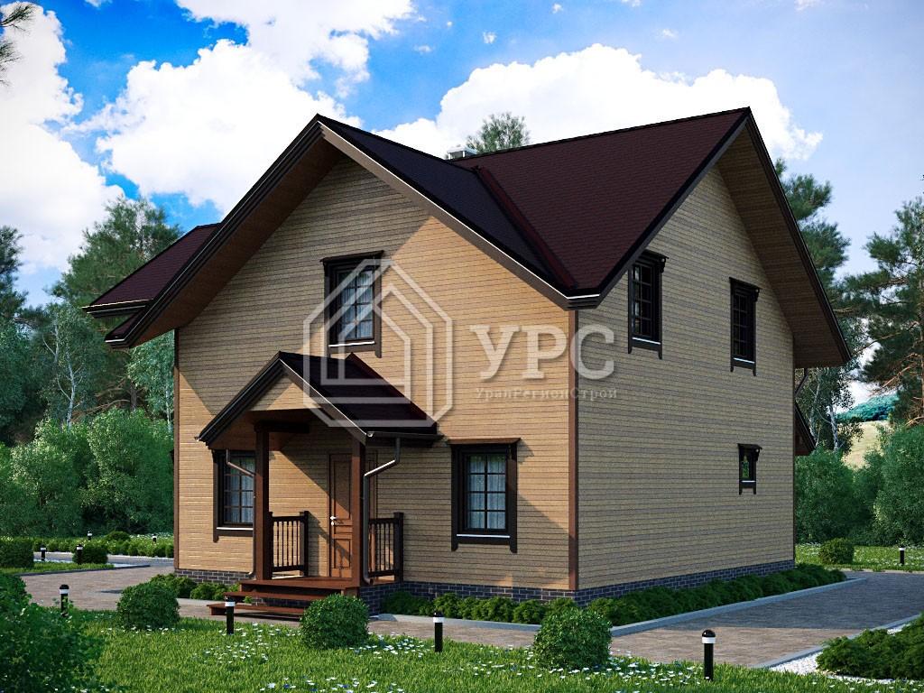 Дом из клееного бруса И-074