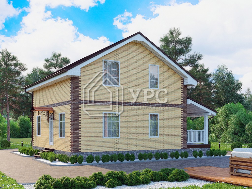 Дом из газоблока К-199