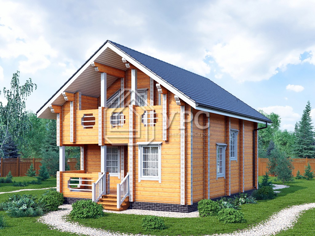 Дом из профилированного бруса ДС-134