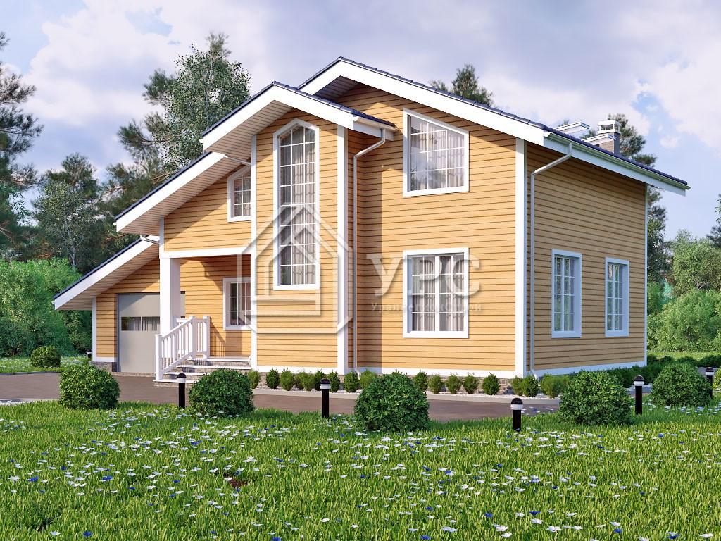 Дом из клееного бруса И-002