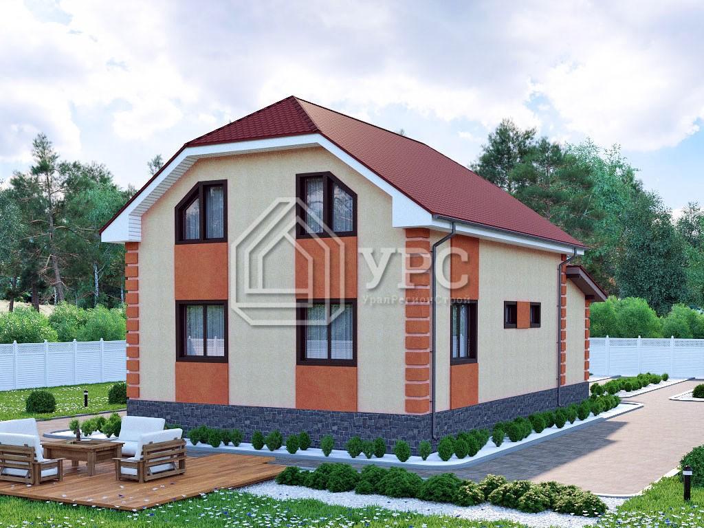 Дом из газоблока К-261