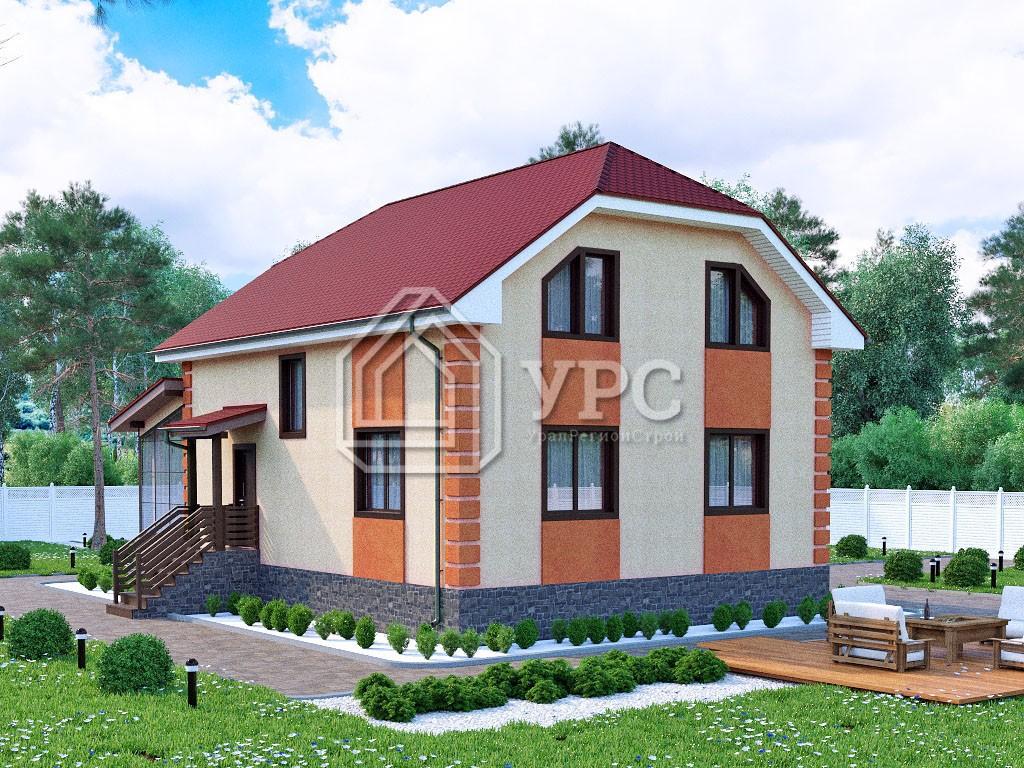 Дом из керамзитобетона К-261