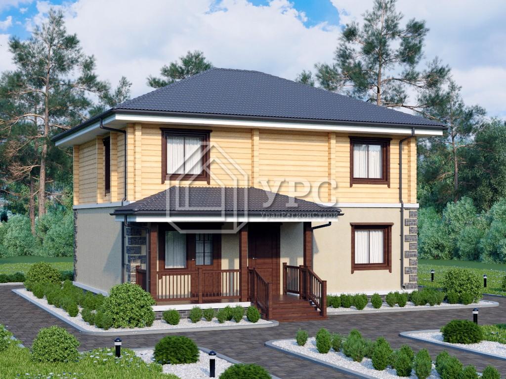 Дом из керамзитобетона А-035