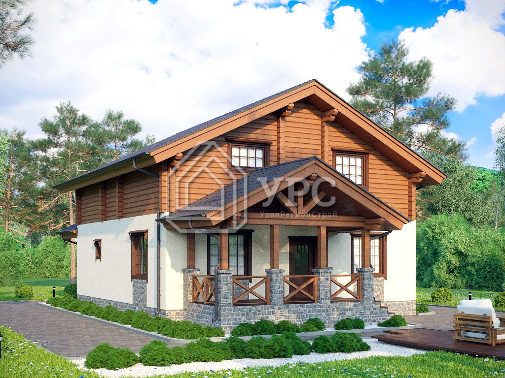 Комбинированный дом А-032