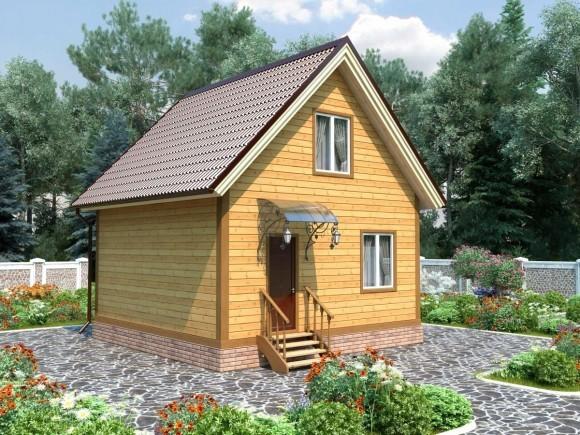 Дом из бруса 6х5 с мансардой 60м2