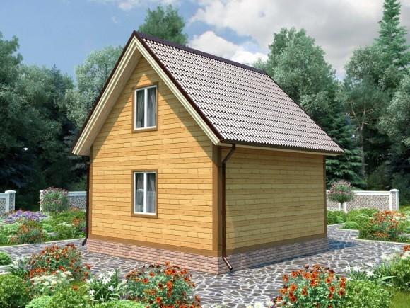 Дом из бруса 10х10 с мансардой 200м2