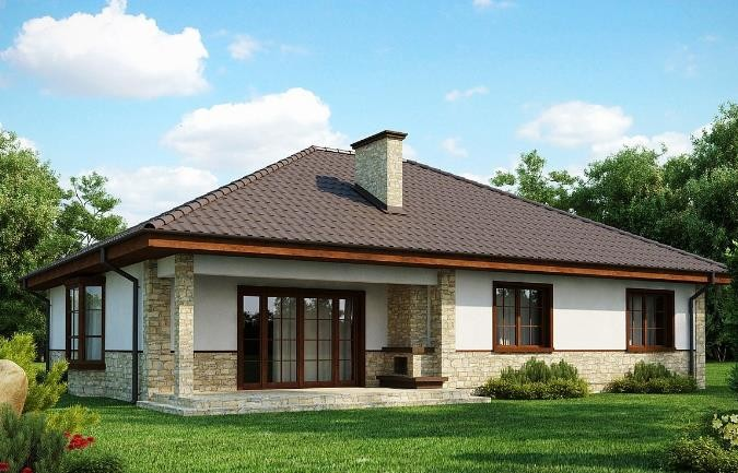 Дом из пеноблока 11х15 с мансардой 128м2